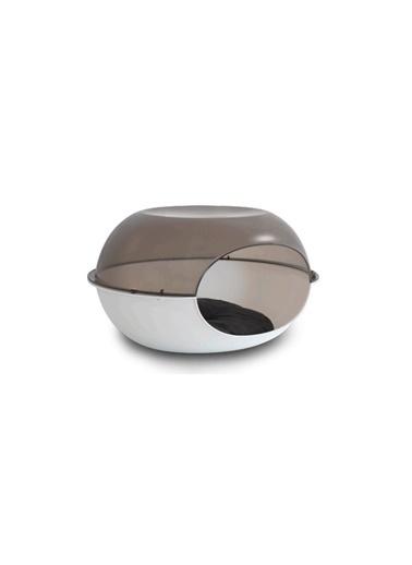 JBL Mp Luna Şeffaf Gri-Beyaz Kedi Evi 57*38*31Cm Renkli